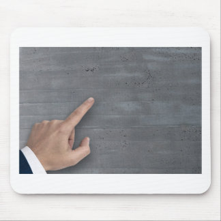 Hand showing concept on copy space template mouse pad