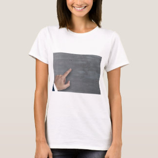 Hand showing concept on copy space template T-Shirt