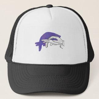 Hand Silhouette Anteater Purple Trucker Hat