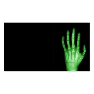 HAND SKELETON green XRAY DARK SCARY HUMAN BREAK BO Business Card Templates