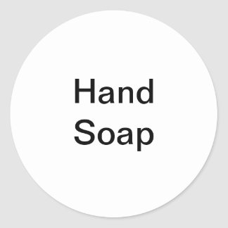 Hand Soap Labels/ Classic Round Sticker