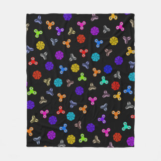 HAND SPINNER POP ART- 001- FLEECE BLANKET- Black