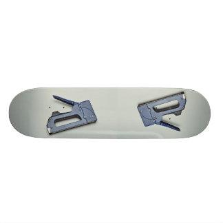 Hand stapler skateboard decks