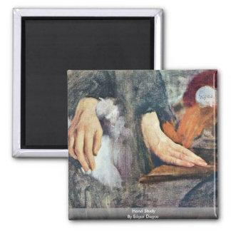 Hand Study By Edgar Degas Magnet