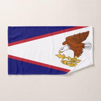 Hand Towel with Flag of American Samoa, USA