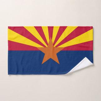 Hand Towel with Flag of Arizona State, USA