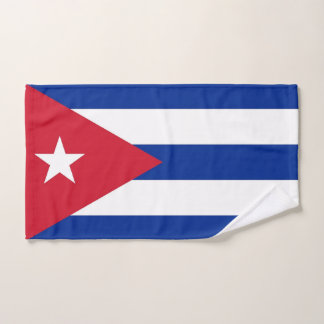 Hand Towel with Flag of Cuba