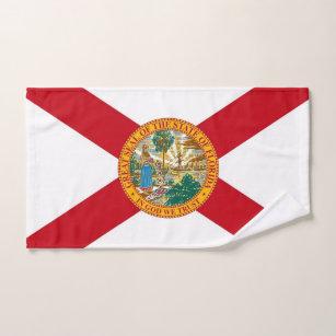Hand Towel with Flag of Florida State, USA
