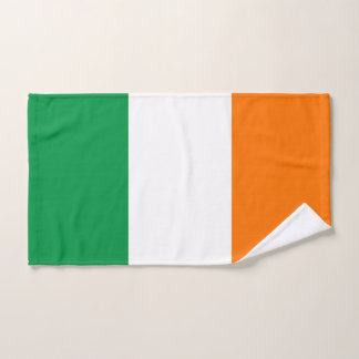 Hand Towel with Flag of Ireland