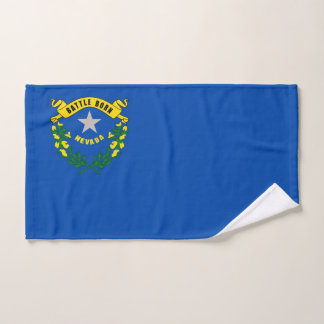 Hand Towel with Flag of Nevada State, USA