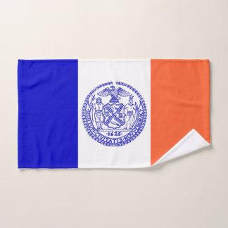 Hand Towel with Flag of New York City, USA