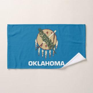 Hand Towel with Flag of Oklahoma State, USA