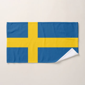 Hand Towel with Flag of Sweden