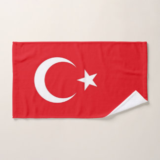 Hand Towel with Flag of Turkey