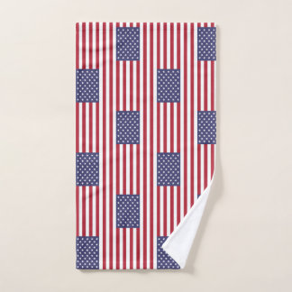 Hand Towel with Flag of United States of America