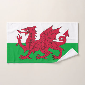 Hand Towel with Flag of Wales, United Kingdom