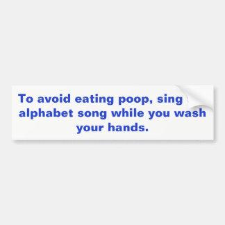 Hand Washing Sign Bumper Sticker