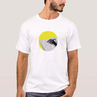Hand Writing Journal Circle Woodcut T-Shirt