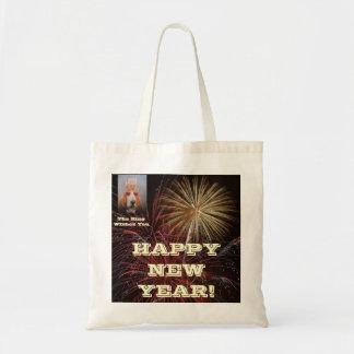 Handbag Basset Hound King Happy New Year Budget Tote Bag