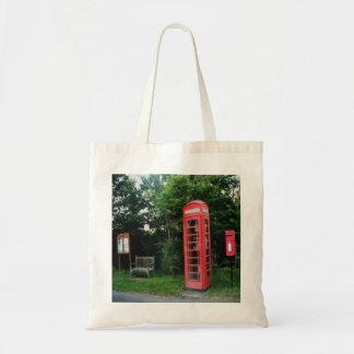 Handbag Countryside Red Phone and Mail Box Tote Bag