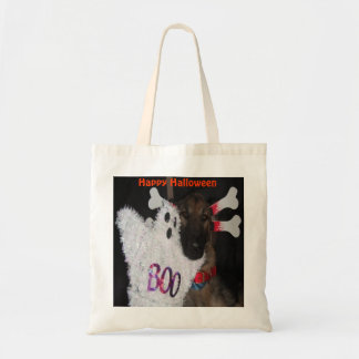 Handbag German Shepherd Halloween Boo Budget Tote Bag