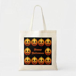 Handbag Happy Halloween Pumpkins Budget Tote Bag