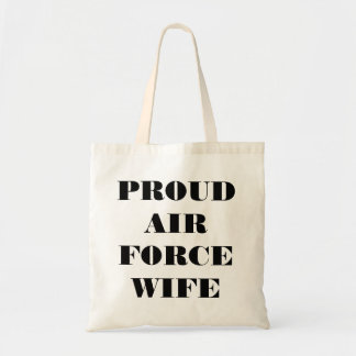 Handbag Proud Air Force Wife Bags