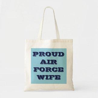 Handbag Proud Air Force Wife Budget Tote Bag