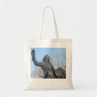 Handbag Thomas Paine Statue Holding RIghts Of Man Budget Tote Bag