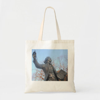 Handbag Thomas Paine Statue Holding RIghts Of Man Tote Bag