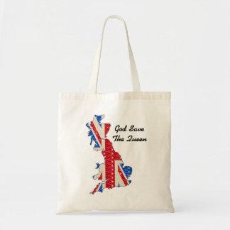 Handbag UK Flag God Save The Queen Canvas Bag