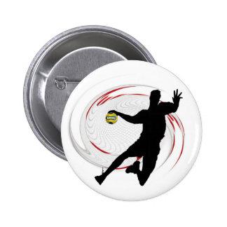 Handball Button/Pine 6 Cm Round Badge