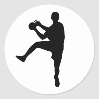 Handball Classic Round Sticker