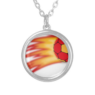 handball comet silver plated necklace