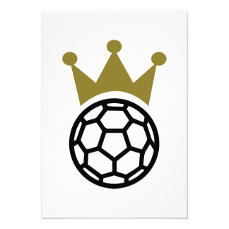 Handball crown champion custom invitations