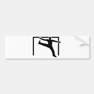 Handball goalkeeper bumper sticker