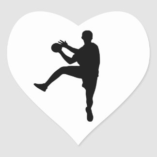Handball Heart Sticker