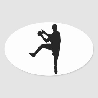 Handball Oval Sticker