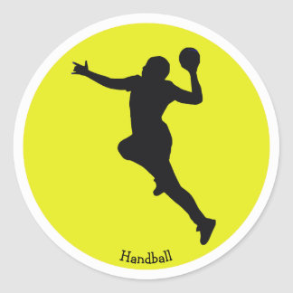 Handball Player Classic Round Sticker