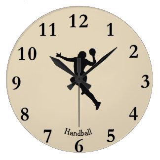Handball Player Large Clock