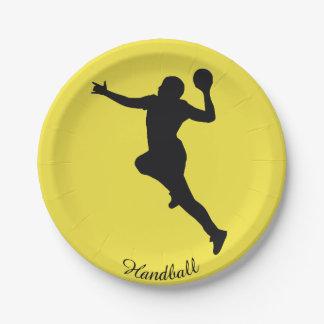 Handball Player Paper Plate