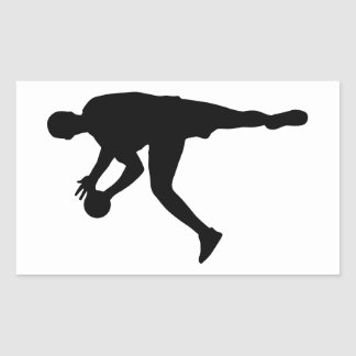Handball Rectangular Sticker