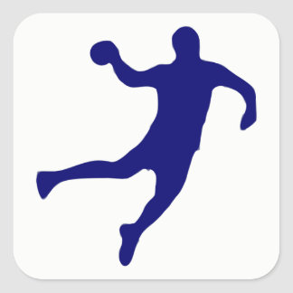 Handball Silhouette Square Sticker