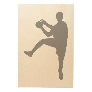 Handball Wood Print