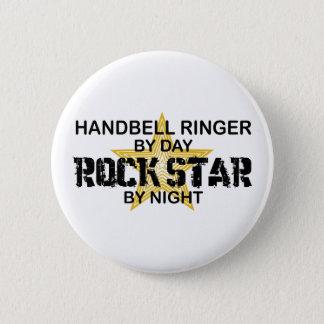 Handbell RInger Rock Star by Night 6 Cm Round Badge