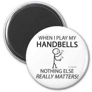 Handbells Nothing Else Matters 6 Cm Round Magnet