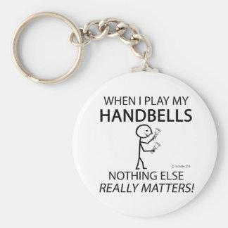 Handbells Nothing Else Matters Basic Round Button Key Ring