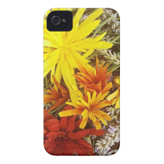 Handcarved wooden flowers on a bed of lavender Case-Mate iPhone 4 cases