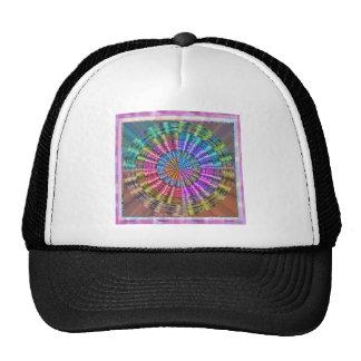 Handcrafted Native Folkart Basket Weave Pattern Trucker Hat