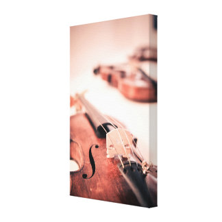 Handcrafted Violin Photograph Canvas Print